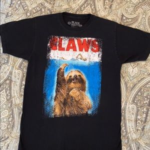 Black matter CLAWS sloth tee